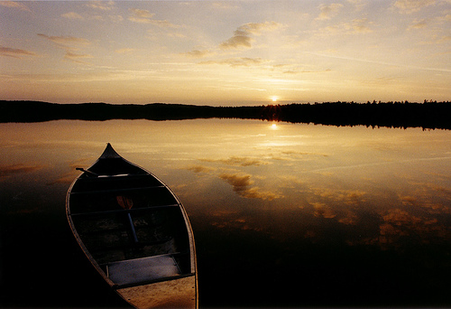 Canoe at Sunset